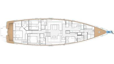 Yacht Charter Oyster 825 Layout