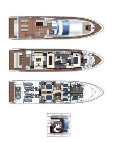 Yacht Charter MEMORIES TOO Layout