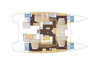 Yacht Charter MY ONE Layout