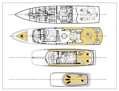 Yacht Charter ENVY Layout