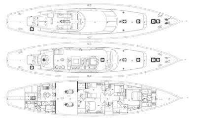Yacht Charter GLORIOUS II Layout
