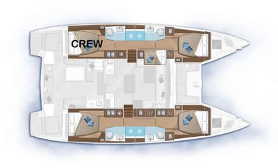 Yacht Charter NAUTI CAT Layout