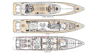 Yacht Charter ONE BLUE Layout