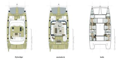 Yacht Charter OCEAN VIBES Layout