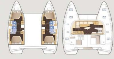 Yacht Charter Bright Sky Layout