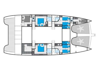 Yacht Charter 19th HOLE Layout
