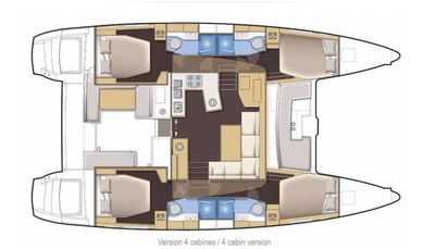Yacht Charter TIME OUT Layout