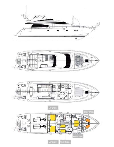 Yacht Charter HOPE I Layout