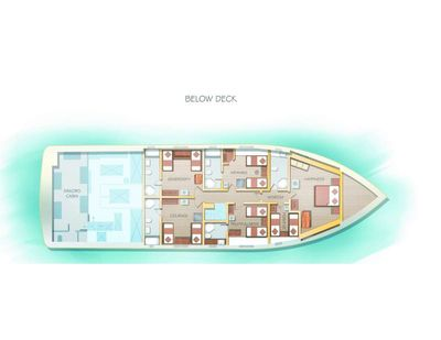 Yacht Charter ALICE Layout