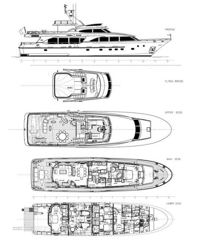 Yacht Charter New star Layout