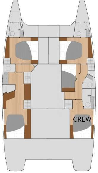 Yacht Charter G2  (Glad In It Two) Layout