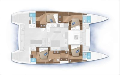 Yacht Charter RESPITE AT SEA Layout