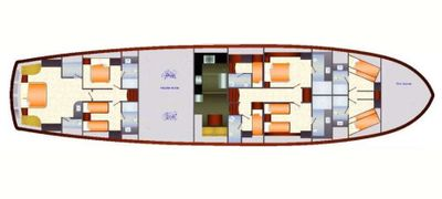 Yacht Charter DRAGON FLY Layout