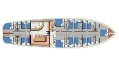Yacht Charter AEGEAN CLIPPER Layout