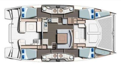 Yacht Charter VICARIOUS Layout