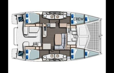Yacht Charter LET'S PLAY TWO Layout