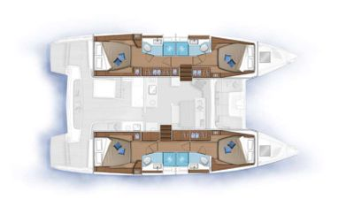 Yacht Charter CELAVIE Layout