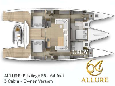 Yacht Charter ALLURE 64 Layout