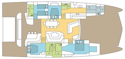 Yacht Charter FRENCHWEST Layout