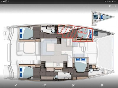 Yacht Charter SOUTHERN CHARM Layout