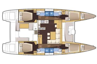 Yacht Charter MAKIN' MEMORIES (Cat) Layout