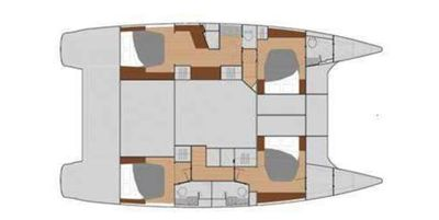 Yacht Charter Sol Mate Layout