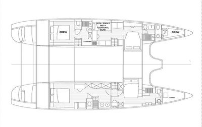 Yacht Charter OMBRE BLU3 Layout