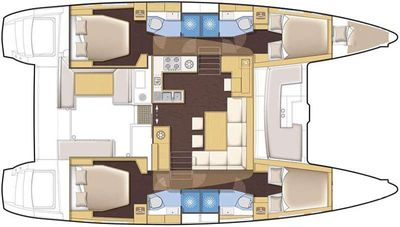 Yacht Charter MISS SUMMER Layout