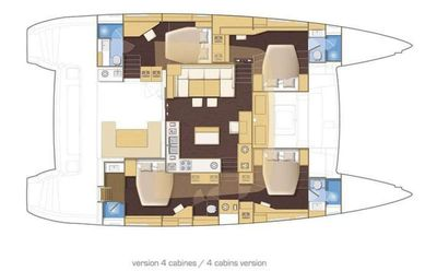 Yacht Charter Ocean Nomad Layout