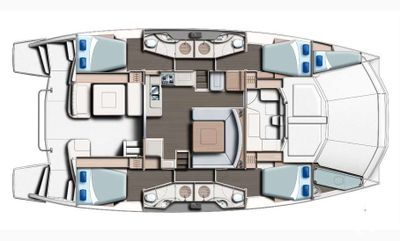 Yacht Charter SOMEWHERE HOT Layout