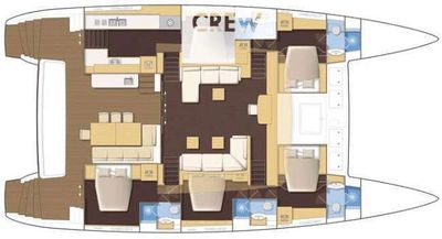 Yacht Charter HEAVENLY Layout