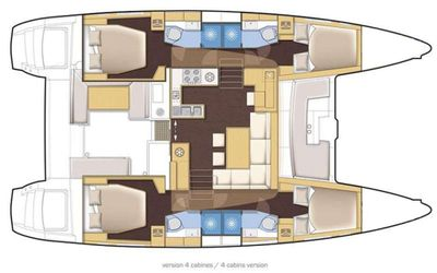 Yacht Charter WHISKEY BUSINESS Layout
