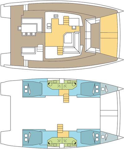 Yacht Charter FREESTYLE Layout