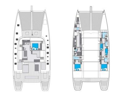 Yacht Charter LEVANTE Layout