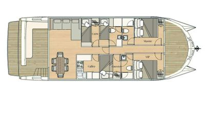 Yacht Charter OVER REEF Layout