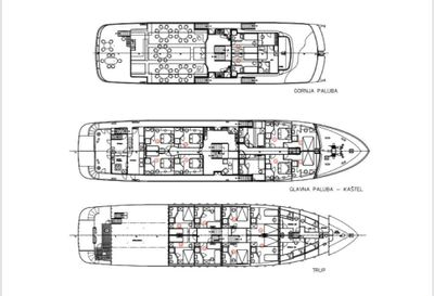 Yacht Charter LUPUS MARE Layout