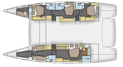 Yacht Charter TRUE STORY Layout