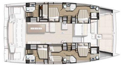 Yacht Charter Crystal Dreams Layout