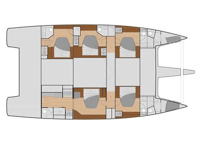 Yacht Charter ALLURE 59 Layout