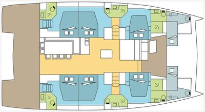 Yacht Charter Dream Jamesby Layout