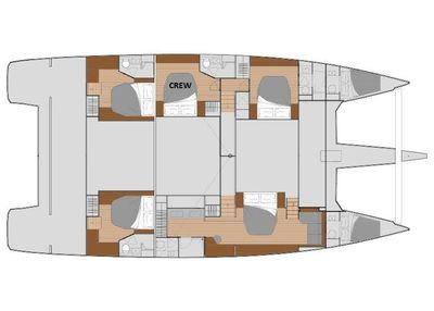 Yacht Charter UNTETHERED Layout