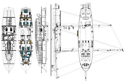 Yacht Charter CLEAR EYES Layout