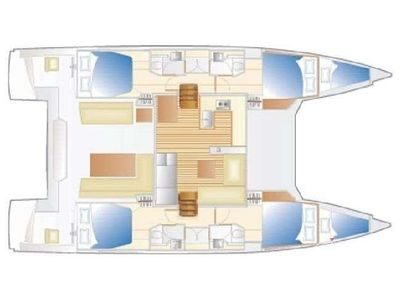 Yacht Charter Freedom Layout