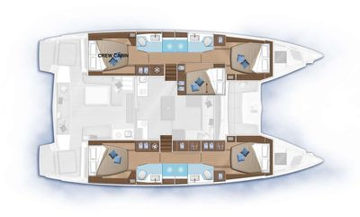 Yacht Charter ETHER Layout