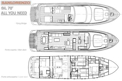 Yacht Charter ALL WE NEED Layout