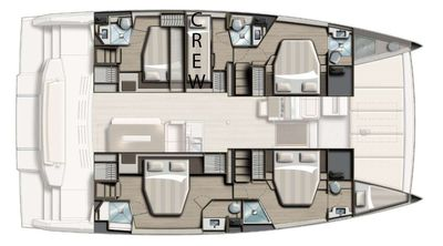Yacht Charter SERENITY 4.8 Layout