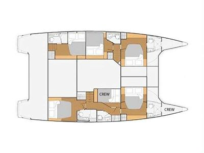Yacht Charter DEVINE SAILING Layout