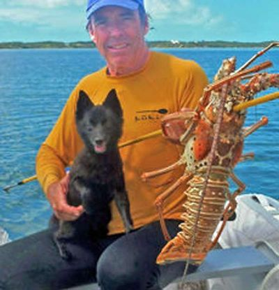 Captain Peter, Bella and lobster dinner -