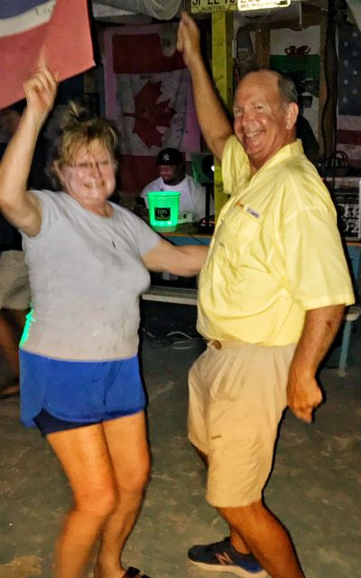 Sam and one of our fun guests showing off their moves! -