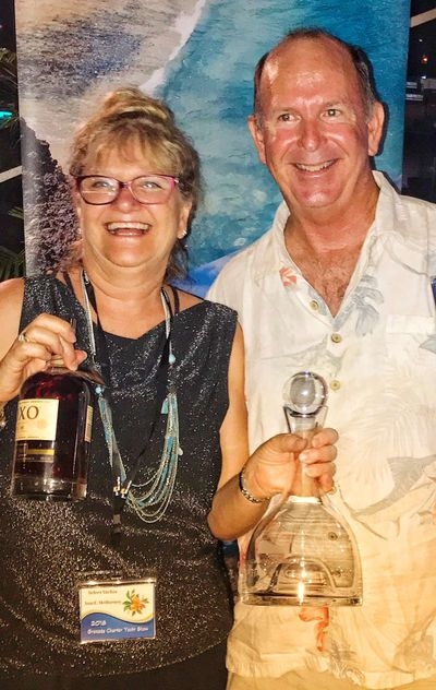 Sam wins the Captain's Cocktail Competition at charter yacht show -